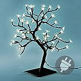 LED 48er Baum mit Blüten warm weiß Lichterbaum Weihnachten Weihnachtsdeko 45 cm