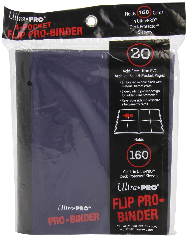 Ultra Pro - Portfolios - Pro-binder - Bleu & Noir - 20 Pages De 8 Cases 84026