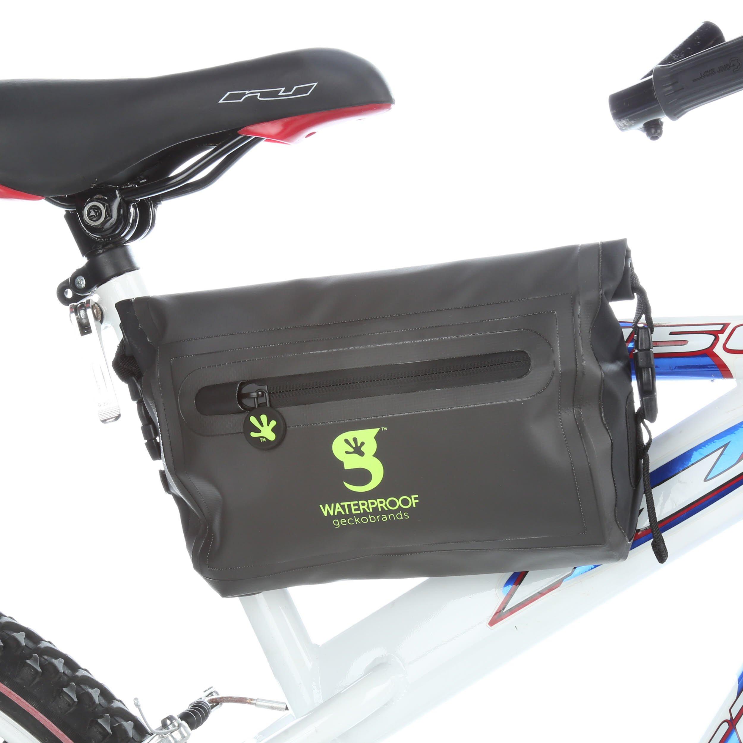 geckobrands Waterproof Bike Cross Bar Dry Bag