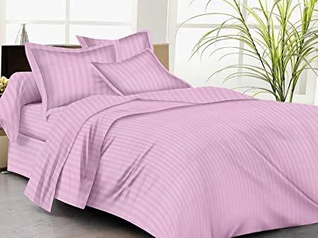 Trance Home Linen 100% Cotton 210 TC Single Fitted Bedsheet 78