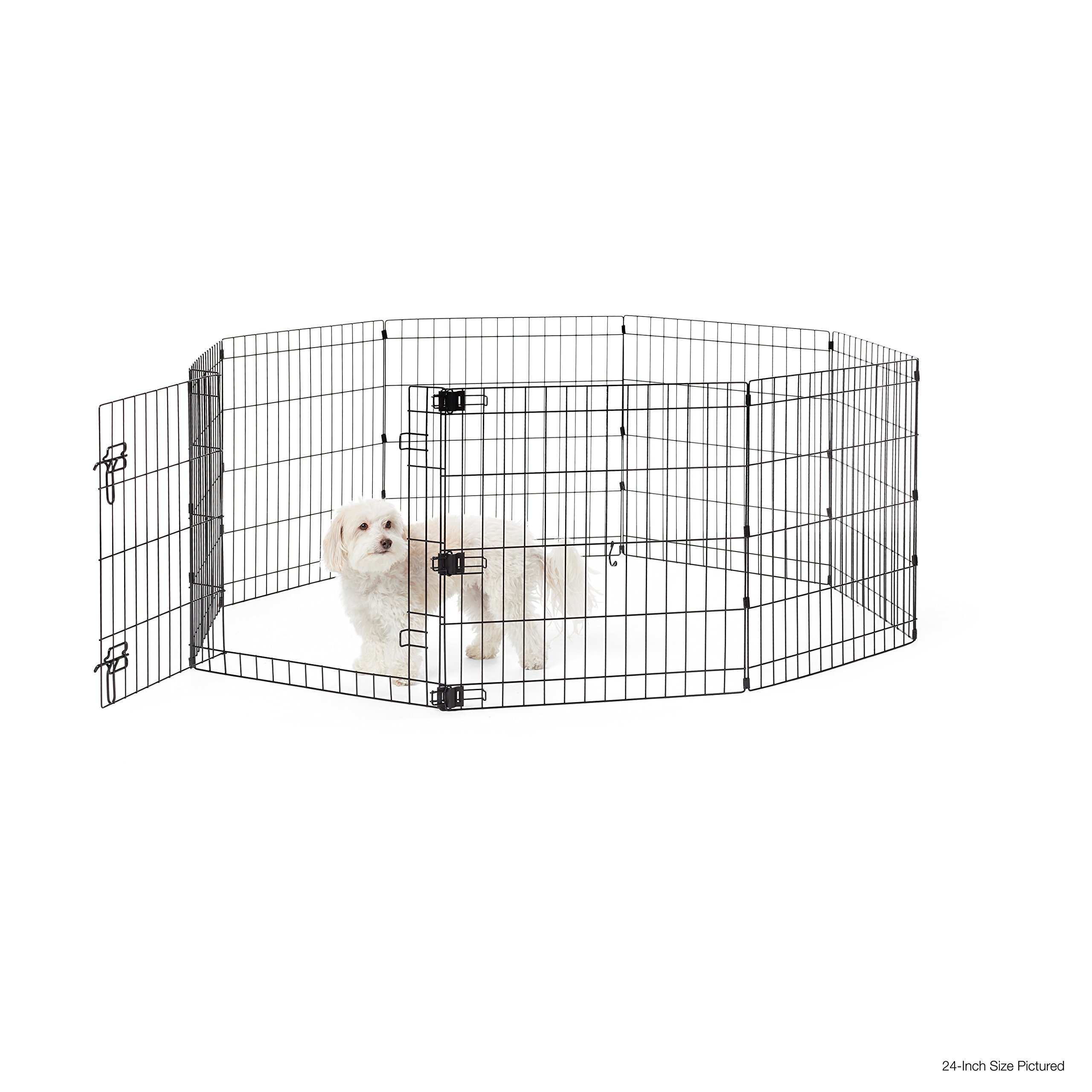 AmazonBasics Foldable Metal Pet Exercise and Playpen with Door, 36'' by AmazonBasics (Image #2)