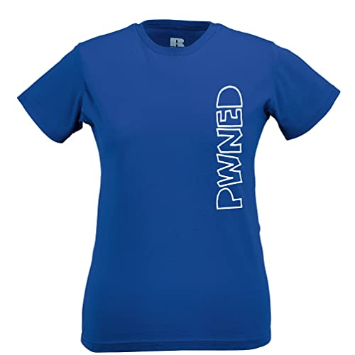 Tim and Ted Gioco Divertente T-Shirt da Donna Pwned Slogan Testo Sideways