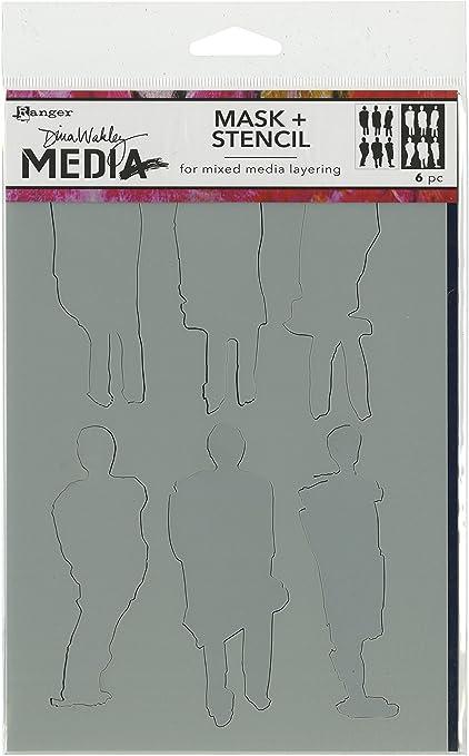 Stenciled Women 6 by 9-Inch Ranger Dina Wakley Media Stencils