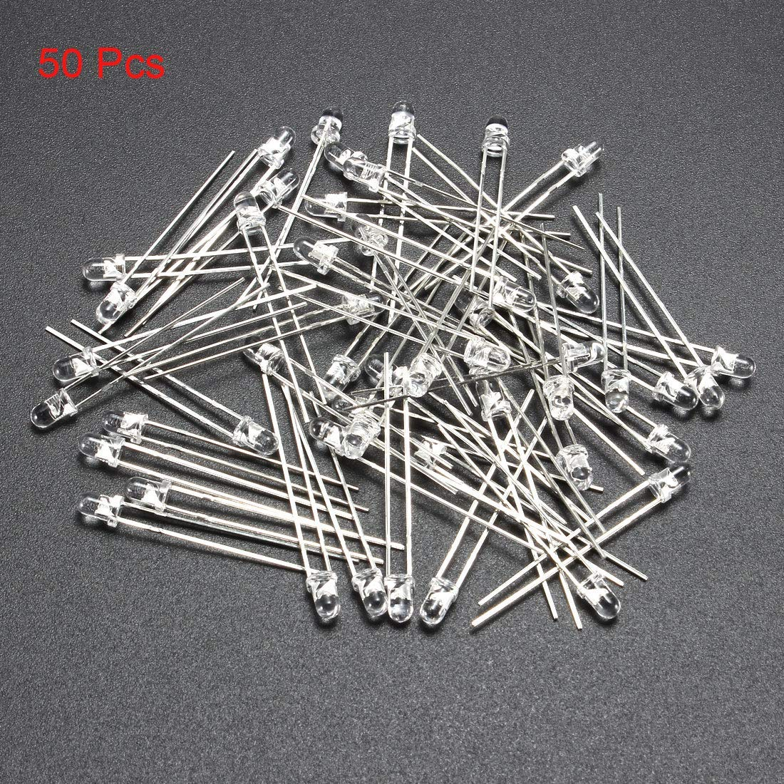 50pcs 3mm 940nm Infrared Emitting diode DC 1.2V LED IR emitter Light Emitting diodes Clear Round Head for Arduino