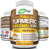 Premium Turmeric Curcumin (120 CAPSULES) with BioPerine Black Pepper, 1300mg Turmeric Capsules with 95% Standardized Curcuminoids - Highest Potency Pain Relief, Joint Support, Non GMO, Gluten Free