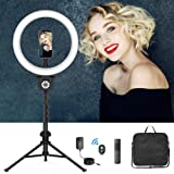 """12"""" Selfie Ring Light with Tripod Stand, Flexible Phone Holder, Bluetooth shutter Remote, Carry Bag for Live Stream…"""