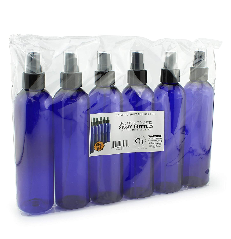 Amazon.com: Botellas de plástico azul cobalto PET con ...