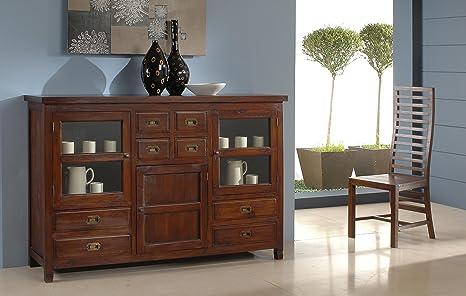 Credenza Moderna Alta Bianca : Maisonoutlet credenza alta stile etnico coloniale moderno in legno