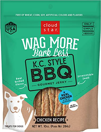 Cloud Star Wag More Bark Less Grain Free, Real Meat Jerky Dog Treats, Small Batch Made in USA