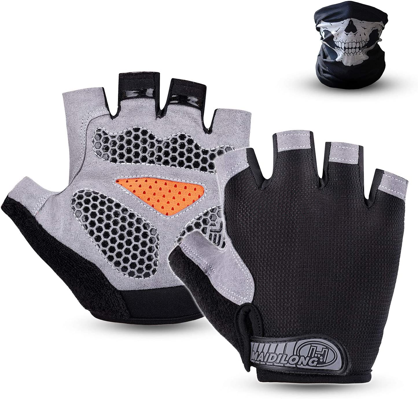 Adult Shockproof Gel Half Short Finger Gloves Bike Cycling Bicycle Motorbike