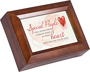 Cottage Garden Special People in Your Heart Wood Finish Jewelry Music Box Plays All You Need is Love