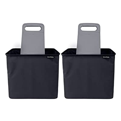 CleverMade 35L SnapBasket TrunkCaddy Collapsible Car Trunk Organizer & Storage Tote with Handles, Black/Charcoal, 2-Pack: Home Improvement