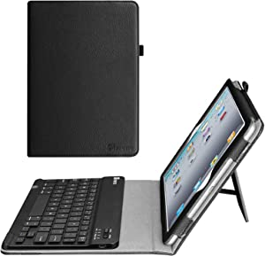 Fintie Keyboard Case for iPad 2 3 4 (Old Model) - Slim Folio Removable Bluetooth Keyboard Cover for Apple iPad 4th Generation with Retina Display, iPad 3 & iPad 2, Black