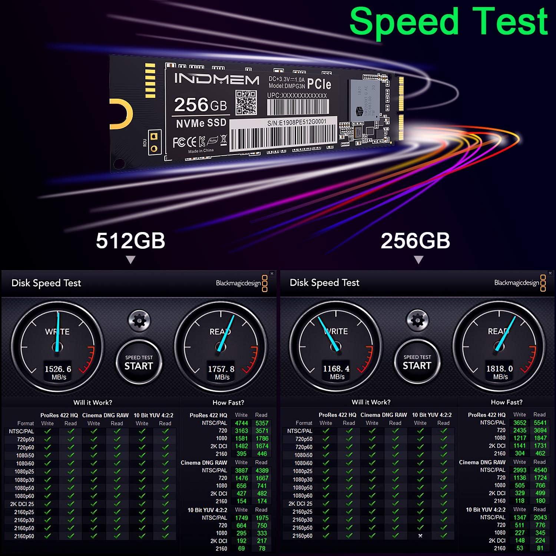 INDMEM 256GB NVMe PCIe Gen3x4 SSD interno para MacBook Pro Retina ...