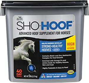 Manna Pro Sho-Hoof Supplement for Horses | Biotin and Zinc Methionine for Healthy Hooves | 5 Pounds