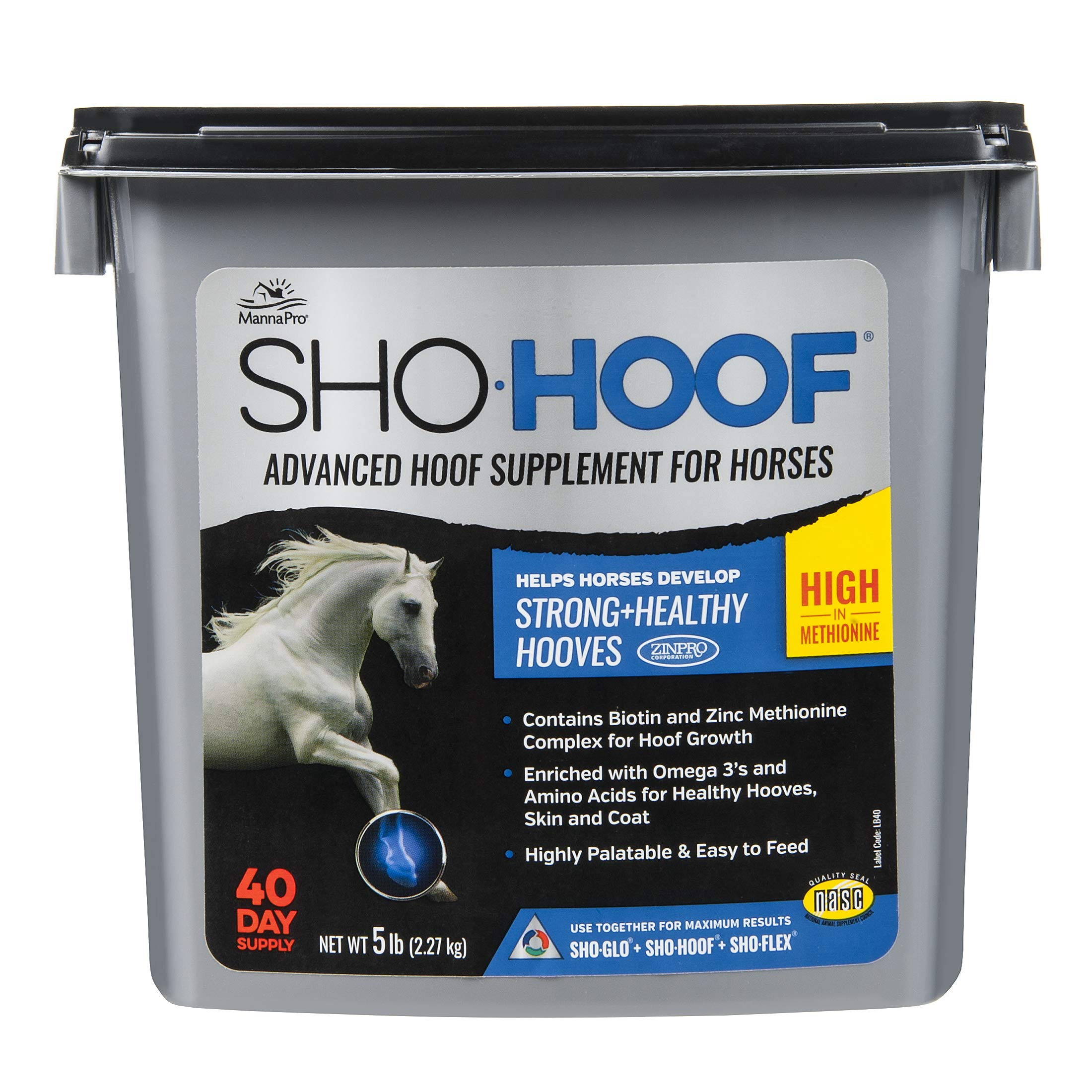 Manna Pro Sho-Hoof Supplement for Horse, 5 lb by Manna Pro