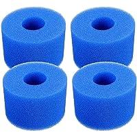 JKKJ Pool Filter Cartridge voor Intex S1 Type, 4 Pack Filter Spons Herbruikbare Wasbare Filter Cleaner Tool Foam…