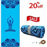 Hot Yoga Towel-100% Microfiber, Super Soft, Ultra Sweat Absorbent, Skidless Non-Slip Hot Yoga Towels for Bikram, Ashtanga, Pilates and Fitness Exercise!