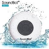 SoundBot SB510 HD Water Resistant Bluetooth 3.0 Shower Speaker, Handsfree Portable Speakerphone with Built-in Mic, 6hrs…