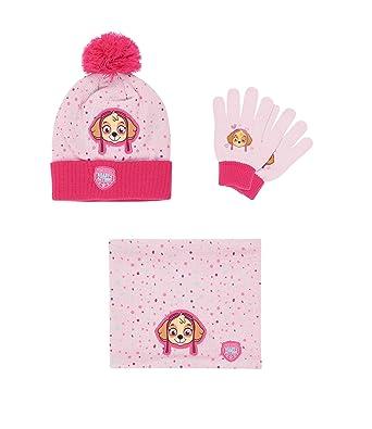 Pat  Patrouille Ensemble 3 pièces   écharpe, bonnet et gants rose (52 cm 87f81e0ff36