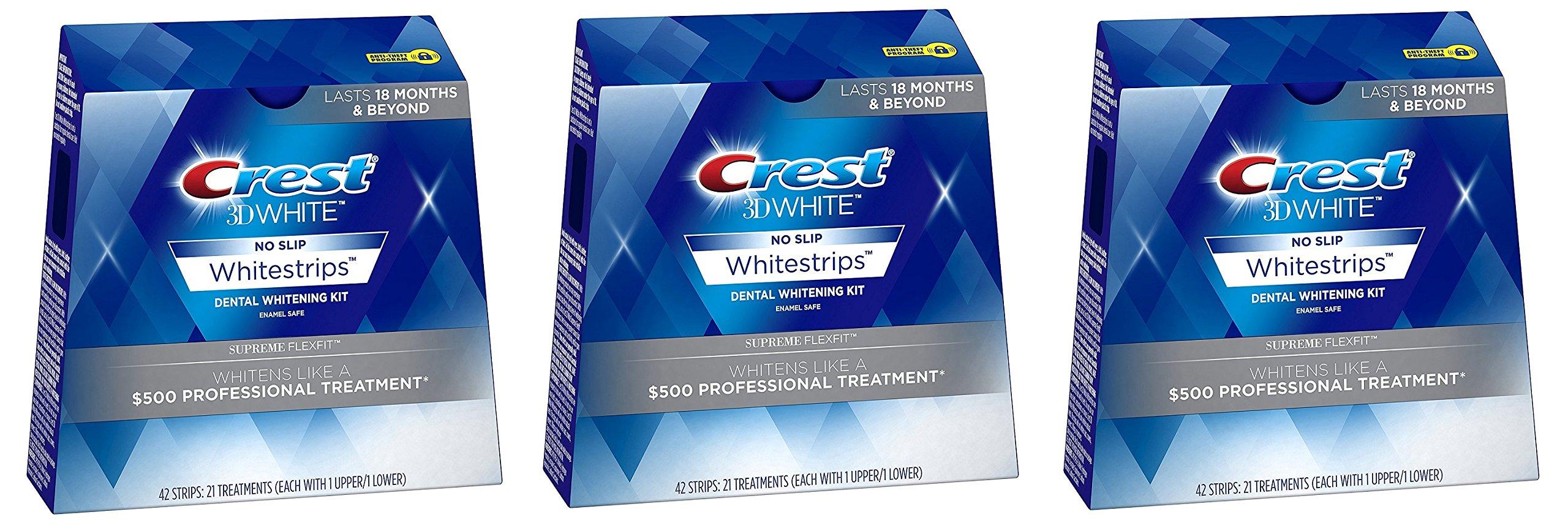 Crest 3D White Supreme Flexfit Dental Whitening Kit ckAjMd, 3Pack (21 Treatments)
