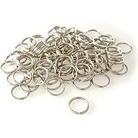 van den Heuvel Schlüsselringe Stahl vernickelt stabil Durchmesser 15 mm (klein) 100 Stück