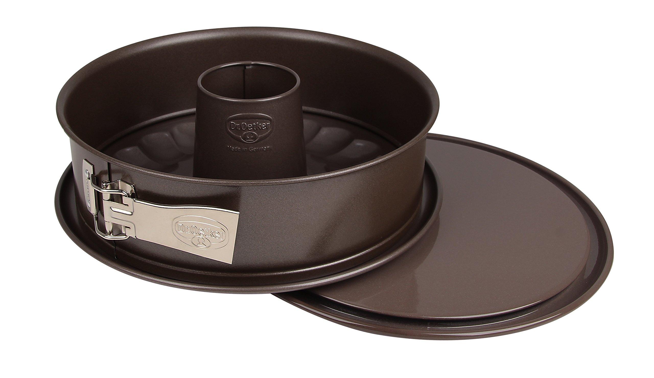 Dr.Oetker Springform Back-Edition with Enamel-and Non-Stick-Server-Plate Ø26 cm in Black, 26 x 26 x 7 cm