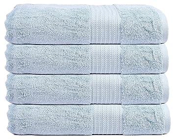 Trident aire ricos tecnología Premium algodón 720 G/m² 4 pcs toallas de baño, color azul: Amazon.es: Hogar