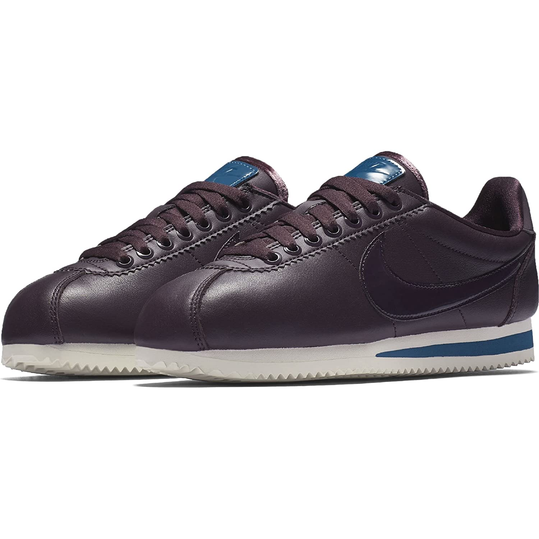 Nike Classic Cortez, Zapatillas de Gimnasia para Mujer 38.5 EU|Port Wine/Port Wine-Space Blue