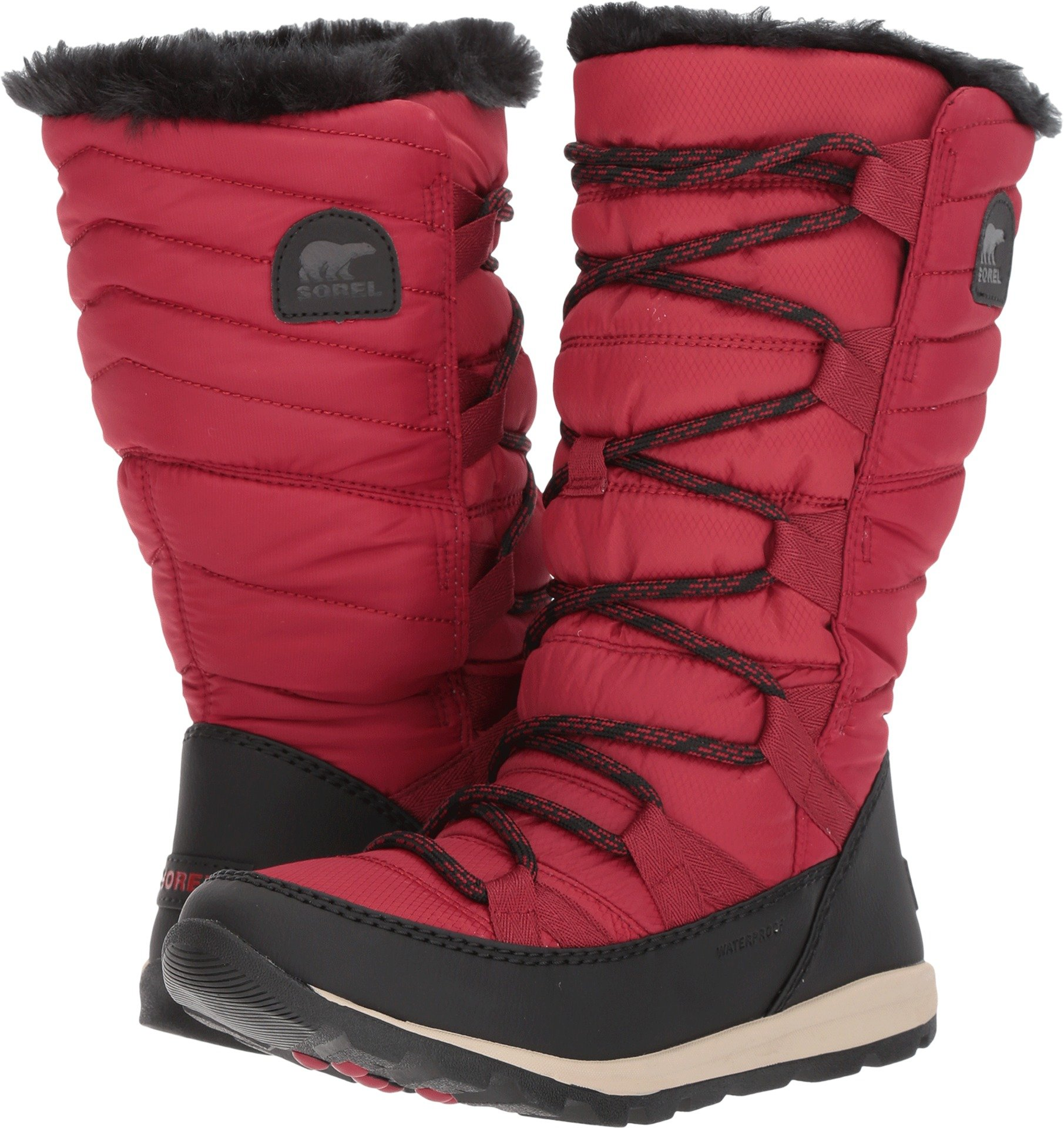 Sorel Women's Whitney Lace Waterproof Winter Boot Red 10 M US by SOREL
