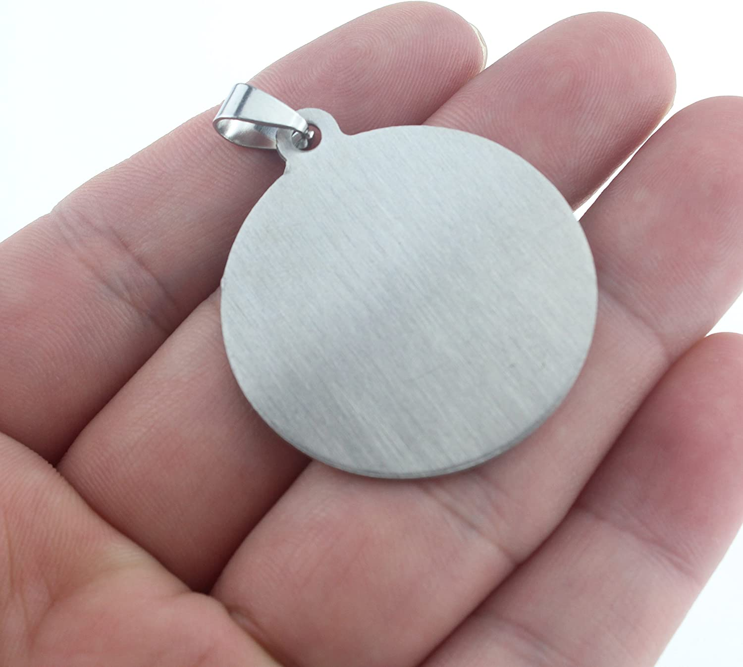 10 Stainless Steel Stamping Blanks Charms Dog Tag Blank Discs Etching Blank Engraving Blank 30 mm Discs no Hole