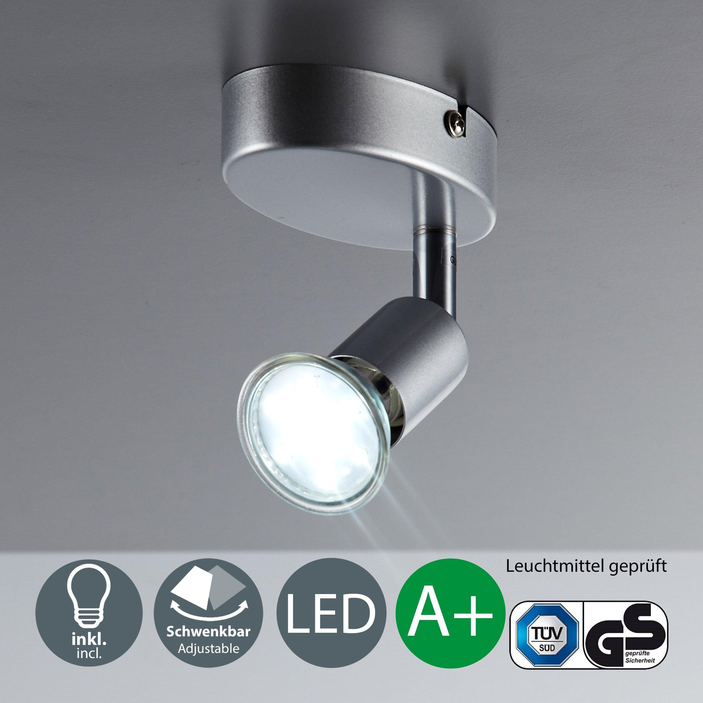 Lámpara de techo I Foco LED para techo y pared I Orientable I Incluye 1 luz