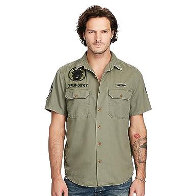 Men's Shirt Sleeved Lauren Ralph Long And Supply Denimamp; 8NwmOv0n