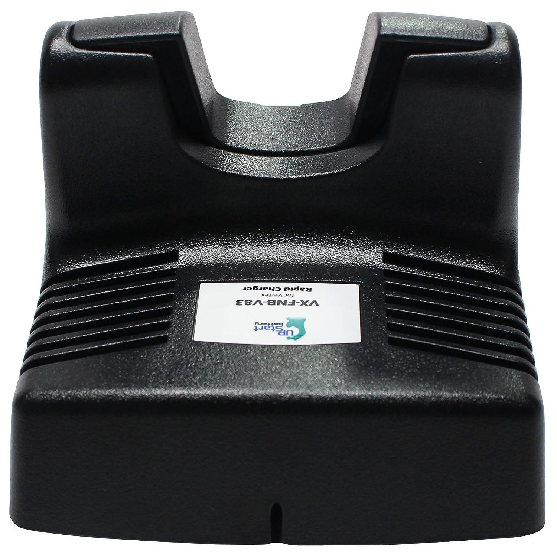 VX-170 FNB-83 Battery and Charger for Vertex FT-60R VX-800U VXA-210 and Standard Horizon HX600S VX-800 HX270S Two-Way Radio 1600mAh, 7.2V, NI-MH VXA-220 Pro VI