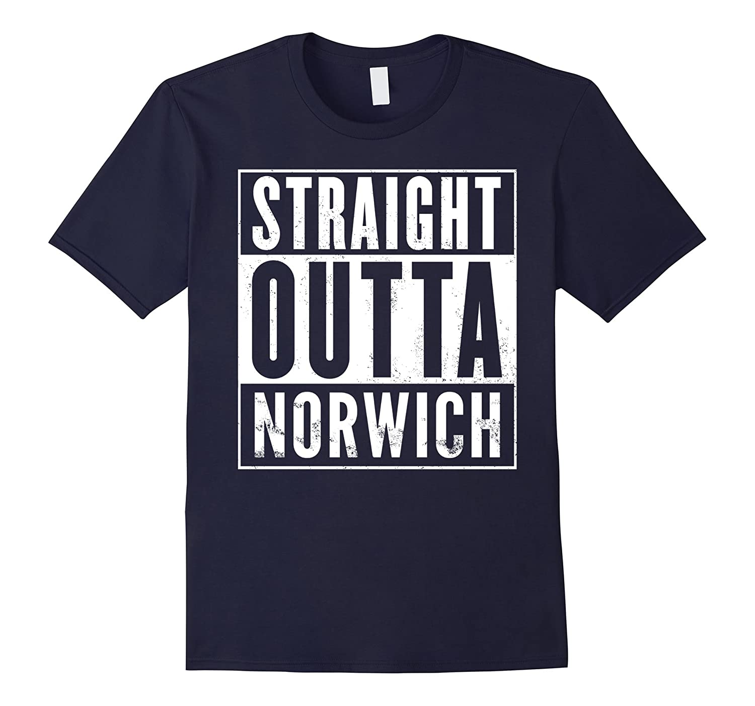 Straight Outta Norwich Funny T-Shirt-BN