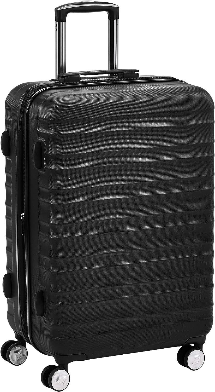 AmazonBasics - Maleta rígida giratoria prémium de 68 cm, negra
