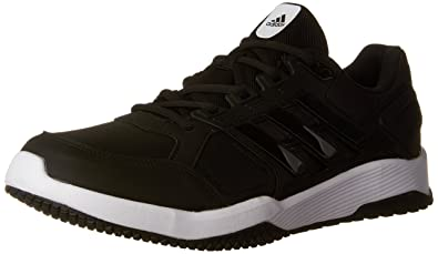 Amazon.com   adidas Men s Duramo 8 M Cross-Trainer Shoe, Black White ... e60406a73e49