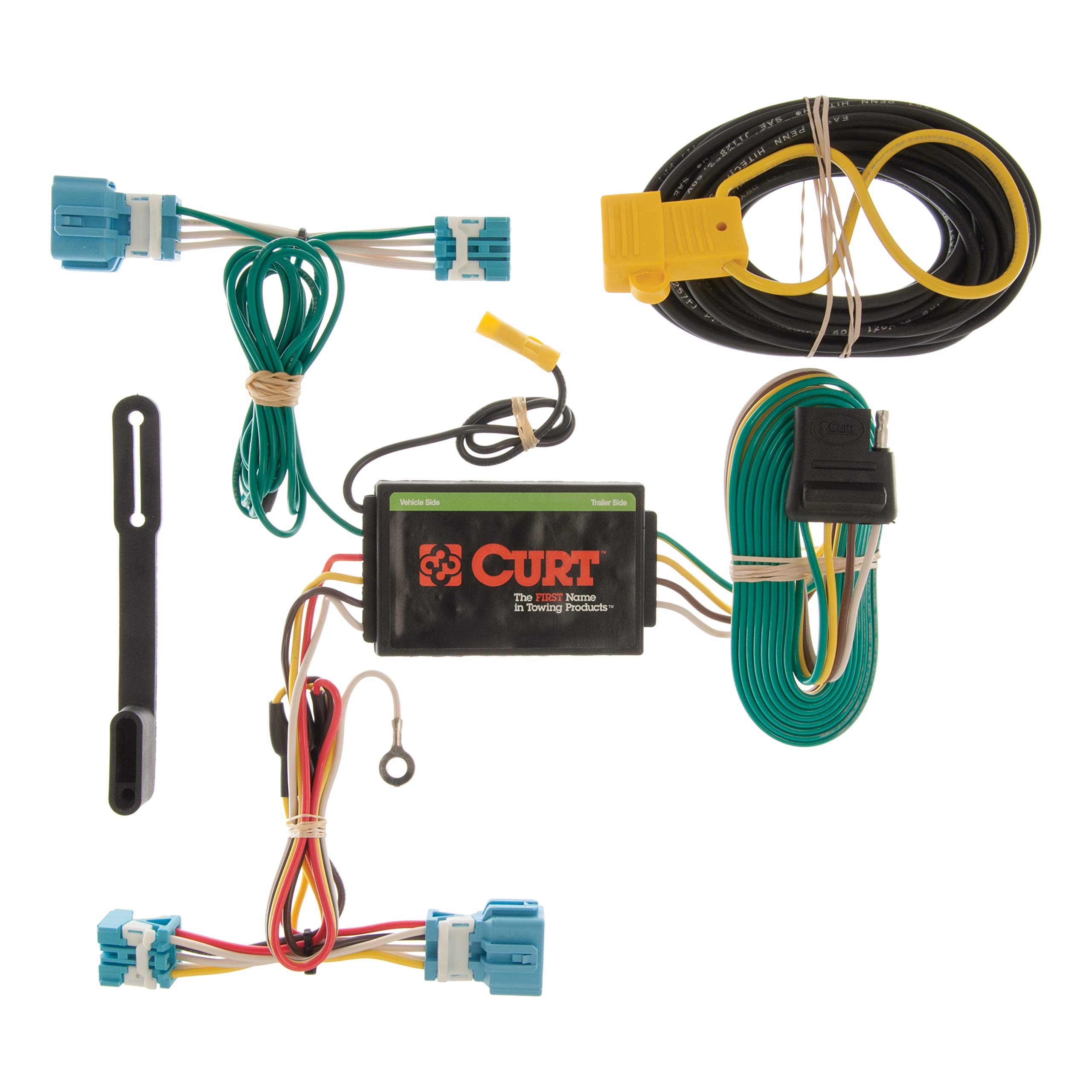 CURT 56123 Vehicle-Side Custom 4-Pin Trailer Wiring Harness for Select Honda CR-Z by CURT