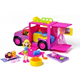 Mattel Polly Pocket W6227 - Pop Pyjamaparty Safari-Truck, Zubehör