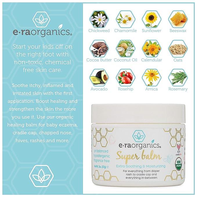 Pomada Sanadora para Bebés 59ml. Crema Sanadora Natural para Bebés Cer:ficada por USDA para Eczema de Bebés, Costra Láctea, Nariz Agrietada, Sarpullidos, ...