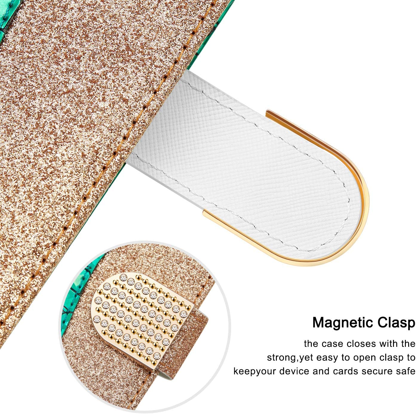 WIWJ H/ülle f/ür Samsung Galaxy A5 2017//A520 Handyh/ülle Glitzer Splei/ßen Lederh/ülle Wallet Kredit Kartenf/ächer Brieftasche Schutzh/ülle Magnet Klapph/ülle Flip 360 Grad Tasche-Lila