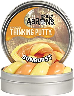 product image for Crazy Aaron's Thinking Putty - Hypercolor: Sunburst - Fidget Toy -Heat-Changing Orange Color - Never Dries Out - 4 Inch Storage Tin - 3.2 Ounces