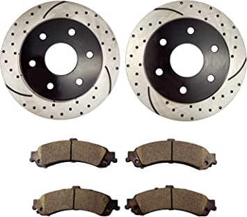 See Desc Rotors Ceramic Pads F+R OE Replacement 2002 Chevy Silverado 1500