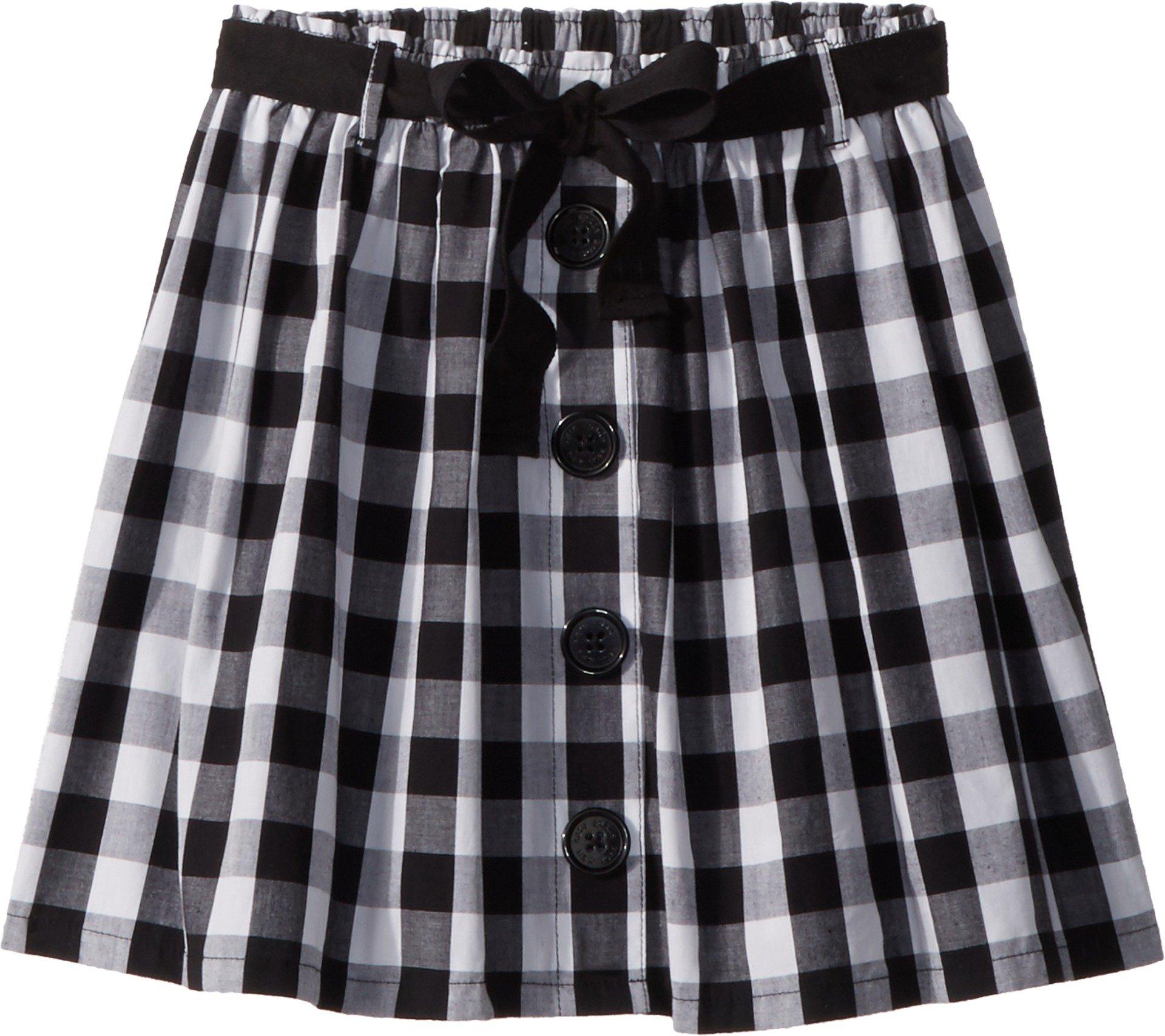 Kate Spade New York Kids Girl's Gingham Skirt (Big Kids) Fresh White/Black 7