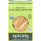 Spicely Organic Ginger Powder 0.40 Ounce ecoBox Certified Gluten Free