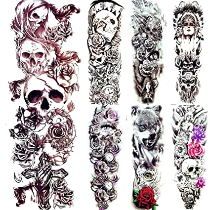 3D Impermeable Diablo Cráneo Esqueleto Rey Tatuajes Pegatinas Cruz ...