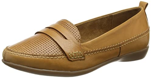 Evans Extra Wide Tan Slip On, Mocasines para Mujer: Amazon.es: Zapatos y complementos