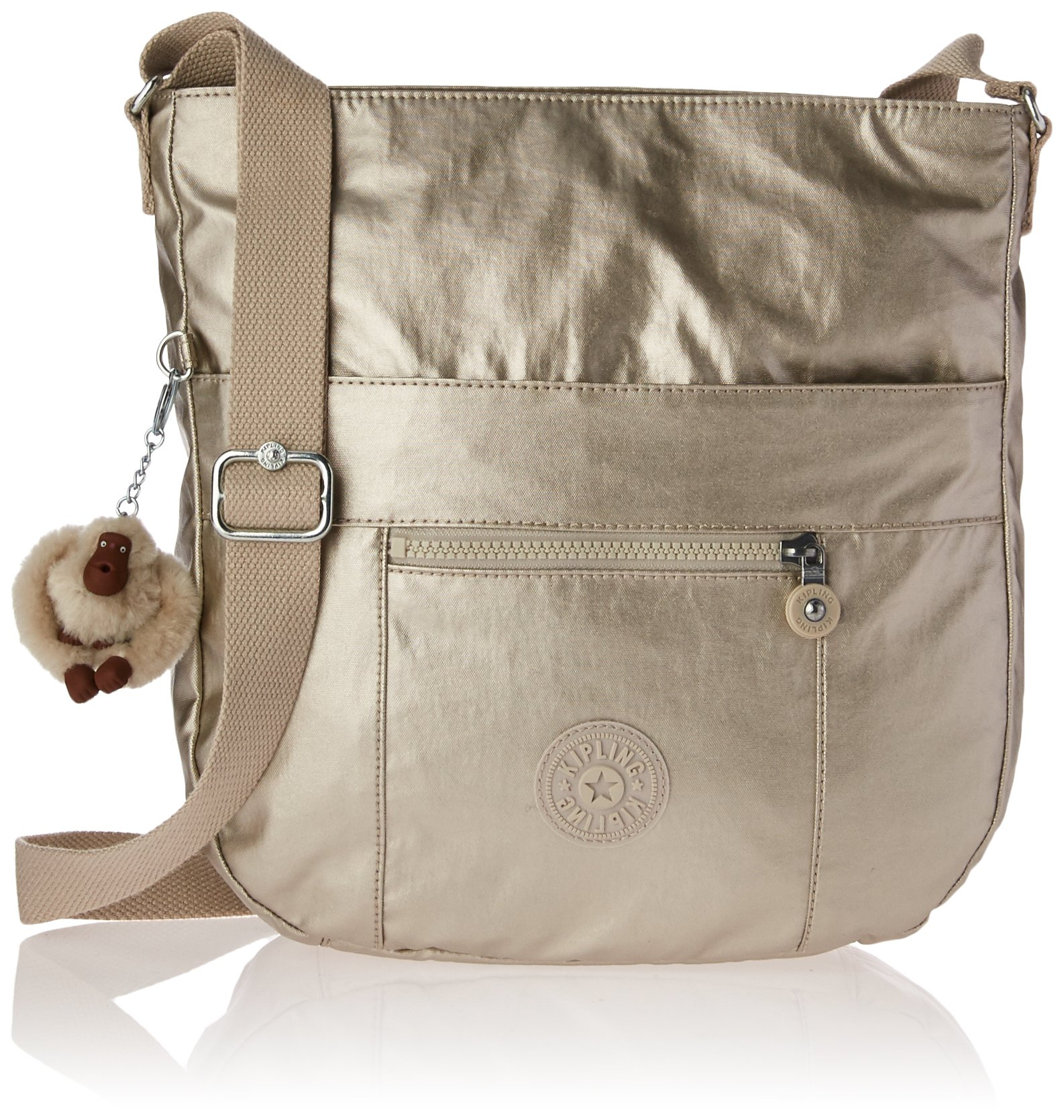 Kipling Bailey Metallic Crossbody Hobo Bag, Cloud Grey/Metallic by Kipling
