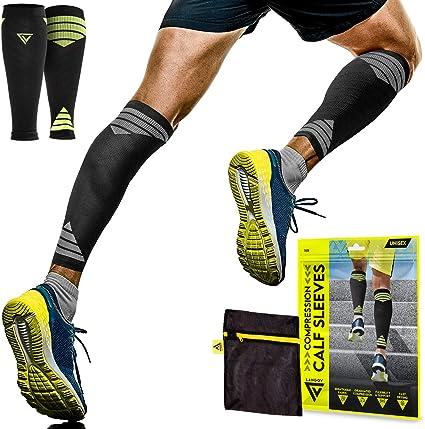 Calf Compression Socks Sleeve Leg Support Varicose Running Shin Knee Pain Relief