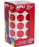 APLI Kids - Rollo de gomets redondos 20,0 mm, color rojo